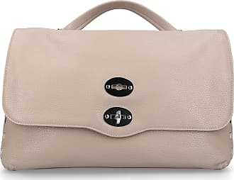 Zanellato Handbag POSTINA leather embossed logo taupe