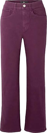 3x1 W4 Shelter Cropped High-rise Flared Jeans - Burgundy