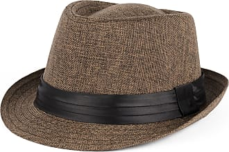 Hat To Socks Trilby Hat with Satin Black Band (brown, L/XL (58/59 cm))