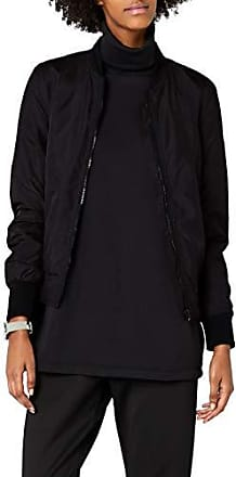 Urban Classics Ladies Light Bomber Jacket Blouson Femme Noir (Black 7) 42 (Taille Fabricant: L)