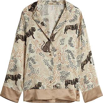 intimissimi Womens Tiger Night Silk Jacket