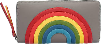 Visconti Happy Rainbow Collection Von Leather Zip Around Purse RFID HR82 Taupe