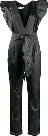 Philosophy di Lorenzo Serafini ruffled plunge jumpsuit - Black