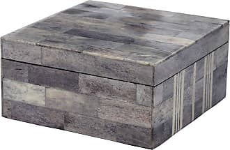 Dimond Home ELK Home Bone Box in Gray and White Finish