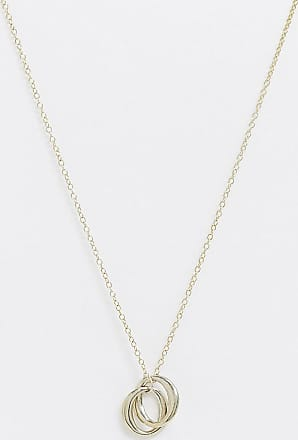 Kingsley Ryan necklace in sterling silver gold plated with mutli ring pendant