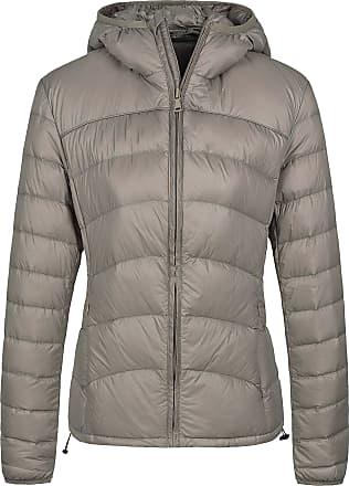 Wantdo Womens Hooded Packable Ultra Light Weight Down Jacket Khaki