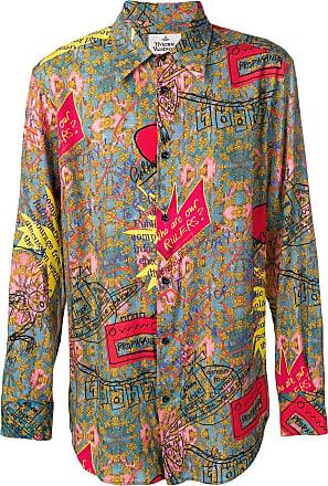 Vivienne Westwood all over print shirt - Blue