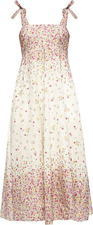 Zimmermann Floral Motif Linen Dress Womens White