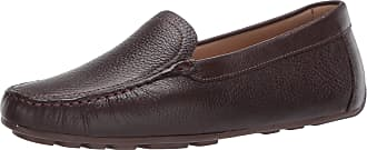 Driver Club USA Womens Leather Made in Brazil Driving Loafer with Venetian Detail, Brown Grainy/Natural Sole, 5.5 UK