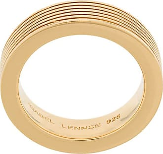 Isabel Lennse Anel canelado 7X3 - Dourado