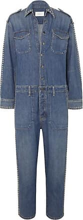 04e22ba503f3 Current Elliott The Crew Studded Denim Jumpsuit - Mid denim