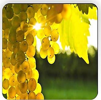 Rikki Knight Rikki Knight Yellow Grapes on The Vine Design Square Fridge Magnet