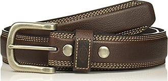 Dickies Mens Drop Edge Double Stitch Belt With Snap Detail, -brown, Medium
