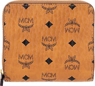 2d4321f8b5453 MCM Visetos Original Zip Wallet Mini Cognac Portemonnaie cognac