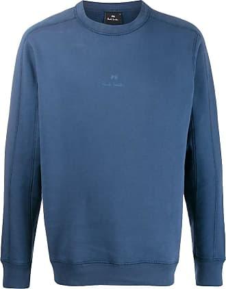 Paul Smith Moletom com logo bordado - Azul