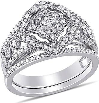 Zales 1/4 CT. T.w. Composite Diamond Vintage-Style Mandala Bridal Set in Sterling Silver