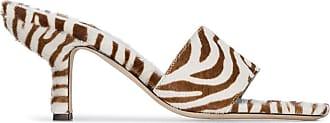 by FAR Mule com estampa de zebra e salto 70mm - Branco