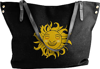 Juju Sun Smile Happy Vector Womens Classic Shoulder Portable Big Tote Handbag Work Canvas Bags