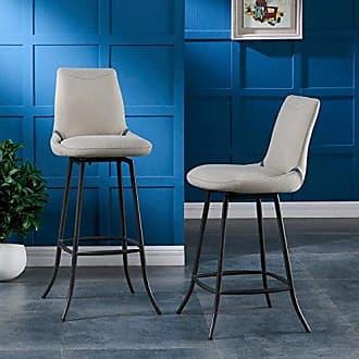 New Pacific Direct 5600011 Alvin Swivel Bar Stool,Set of 2 Furniture, Denim Beige