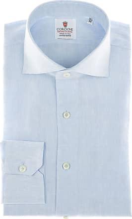 Cordone 1956 Camicia sartoriale Mod. Azure Linen Shirt - Tessuto lino - Colore azure - Taglia 36