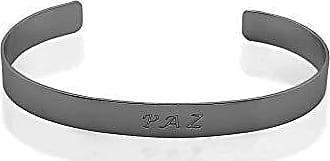 Kitbox Bracelete Paz folheado em ródio negro