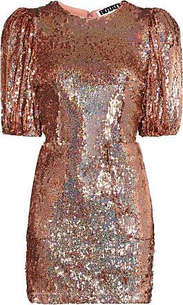 Rotate Vestido mini Katie com aplicação de paetês - Metálico