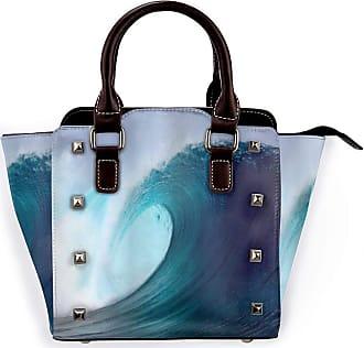 Browncin Ocean Tropical Surfing Wave On A Windy Sea Indonesia Sumatra Picture Print Detachable Fashion Trend Ladies Handbag Shoulder Bag Messenger Bags