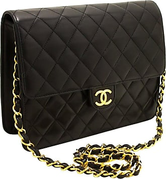 57a360c1ca4c CHANEL BOUTIQUE Chanel Small Chain Shoulder Bag Black Clutch Flap Quilted  Lambskin