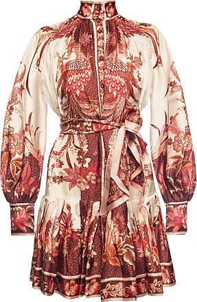 Zimmermann Patterned Dress Womens Burgundy