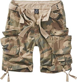Brandit Savage Vintage Gladiator Shorts - Including Matching Belt - Light Woodland - 5XL