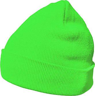 DonDon winter hat beanie warm classical design modern and soft neon green