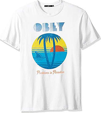Obey Mens Problems in Paradise Crewneck Tshirt, Insignia Blue, S