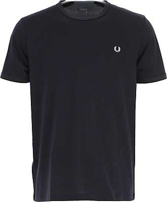 Fred Perry T-Shirt Uomo On Sale, Navy Blu, Cotone, 2019, L M S XL