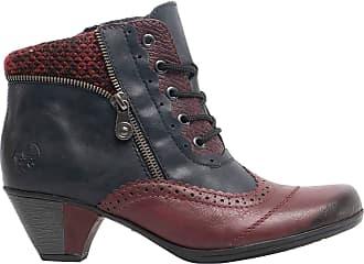 Rieker Larah Womens Ankle Boots 3.5 UK 35 Wine/Navy Combi