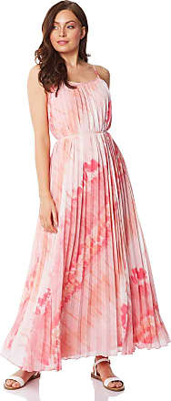 Roman Originals Womens Sleeveless Tie Dye Effect Maxi Dress - Ladies Everyday Smart Casual Work Office Meeting Wedding Guest Comfortable Bohemian Neck Full Length Dre