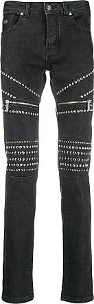 John Richmond Calça jeans skinny com tachas - Preto