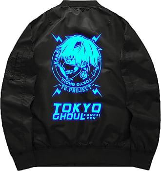 Cosstars Tokyo Ghoul Anime Flight Bomber Jacket Adult Cosplay Zip Up Luminous Sweatshirt Outwear Coat Luminous 2 M