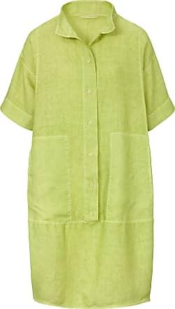 Elemente Clemente Dress in 100% linen short sleeves elemente clemente green