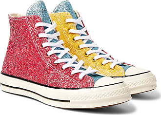 Converse + Jw Anderson 1970s Chuck Taylor All Star Glittered Canvas High-top Sneakers - Red