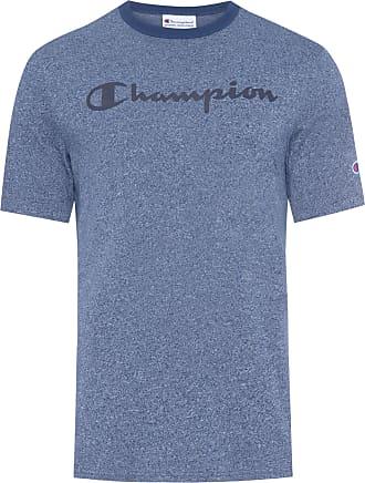Champion T-SHIRT MASCULINA CHAMPION MENS HERITAGE HEATHER TEE - AZUL