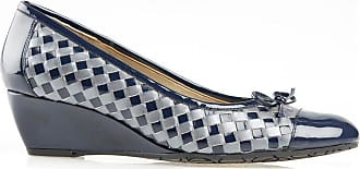 Van Dal Shoes Womens Sudbury Espadrilles in Marine Navy/Grey Prlsd