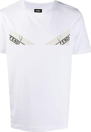 Fendi Camiseta de algodão com estampa Bag Bugs - Branco