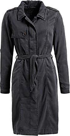 khujo Damen Mantel TYRA orange langer leichter Sommermantel Lyocell Trenchcoat