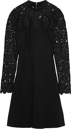 accf7fb1b361f Elie Tahari Elie Tahari Woman Jenessa Guipure Lace-paneled Ponte Dress  Black Size 10