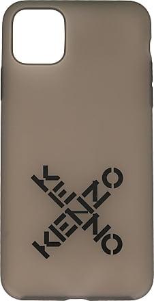 Kenzo logo print iPhone 11 Pro Max case - Cinza