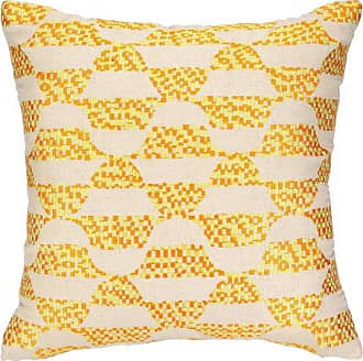 Trina Turk Residential Linen Embroidered Pillow, Ventura, Yellow