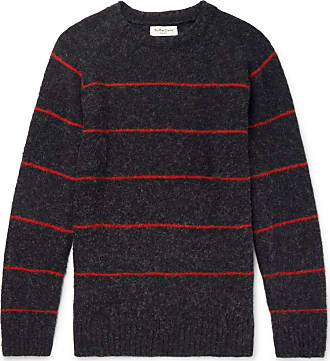 Ymc You Must Create Striped Wool Sweater - Charcoal