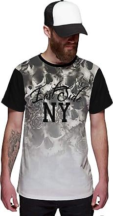Di Nuevo Camiseta Masculina Flowers Caveira Floral East Side New York