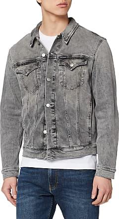 Calvin Klein Jeans Mens Foundation Slim Denim Jacket, Grey (Da109 Light Grey 1Bz), X-Large (Size:XL)