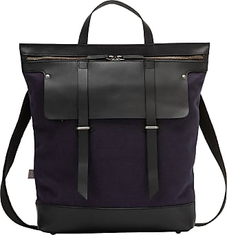 365d6363e8 DuDu Grand sac à dos femme et homme en cuir et toile bicolore avec fermeture  à